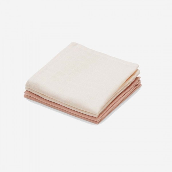 Musselin Waschlappen 4 Pack nude/blush