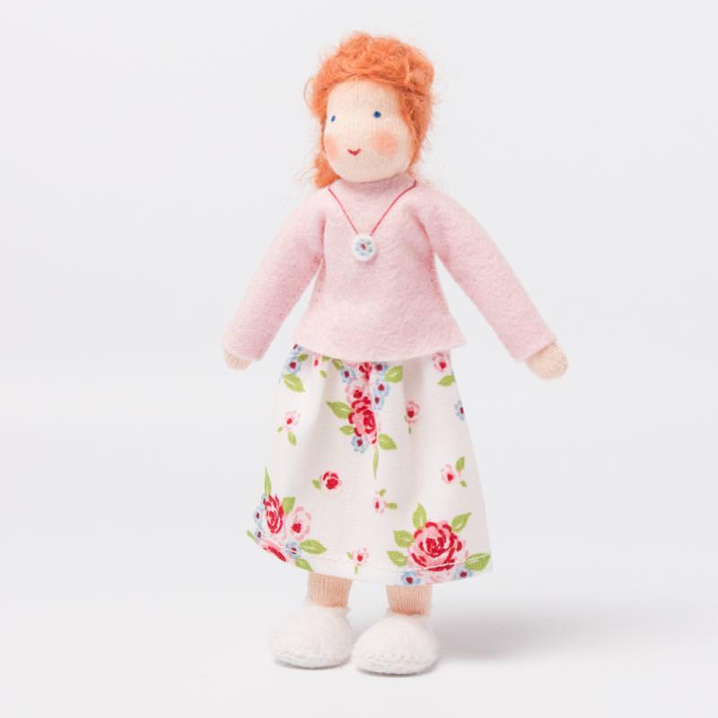 Puppenstuben Mama rotes Haar