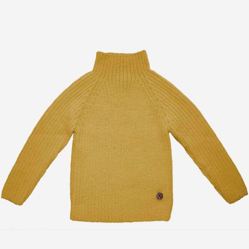 Rib Pullover Alpaka amber