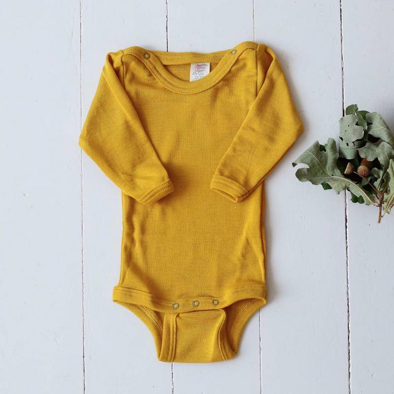 Baby Body Wolle/Seide safran