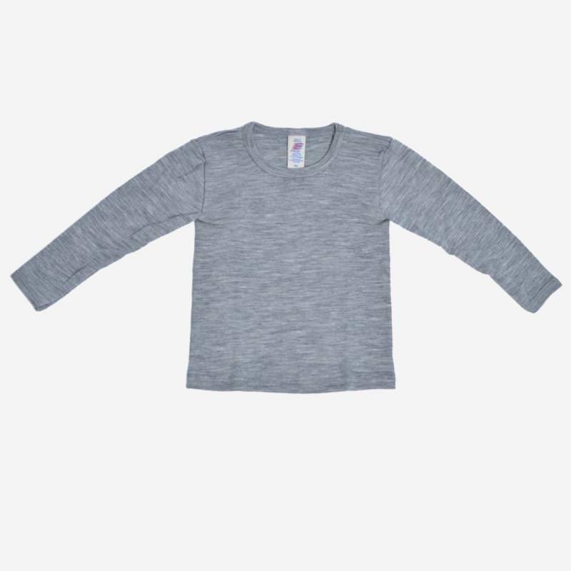 Unterhemd grau Wolle/Seide