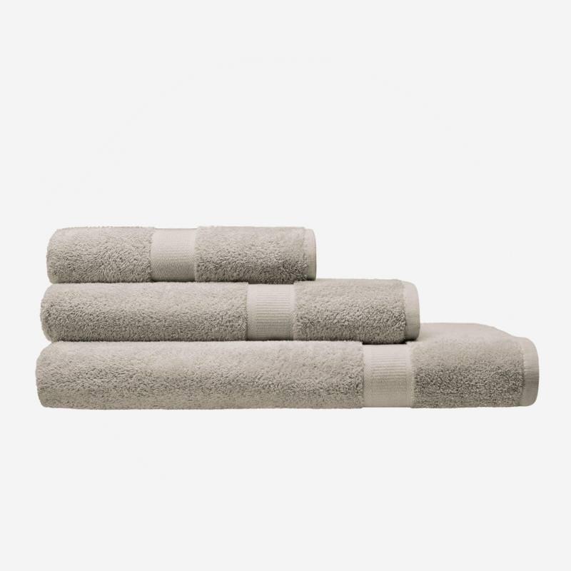 cotonea bio baumwolle frottier frottee handtuch leinen beige greige grau leinen