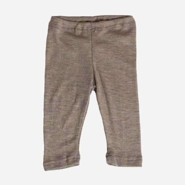 Baby-Leggings Wolle/Seide walnuß