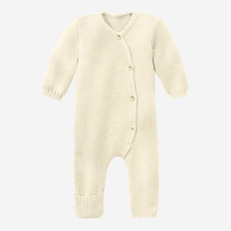 Baby Strick-Overall von Disana aus Wolle in natur
