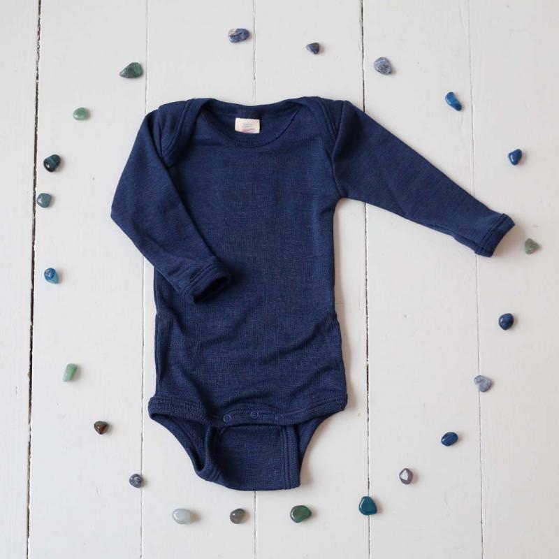 Body Wolle/Seide marineblau