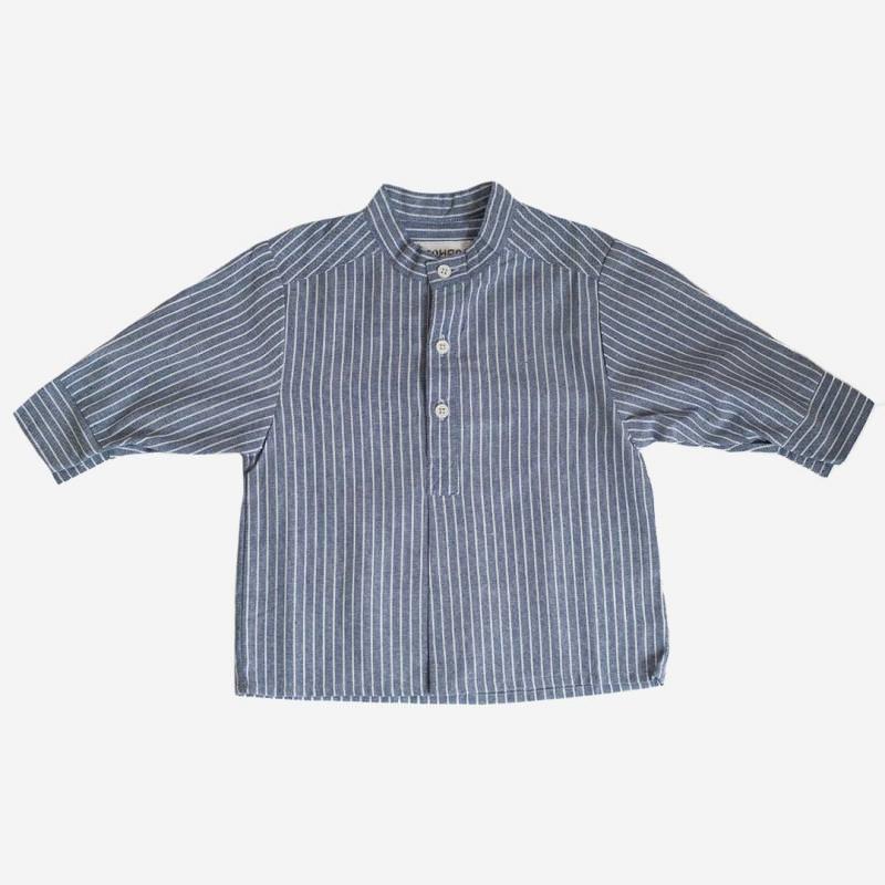 Fischerhemd blau/weiß