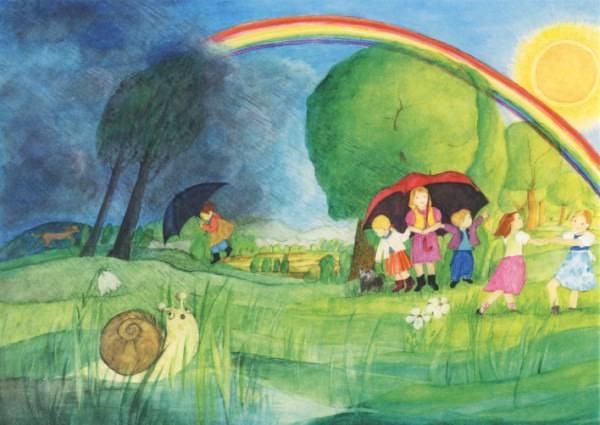 Postkarte Regenbogen (Ott-Heidmann)