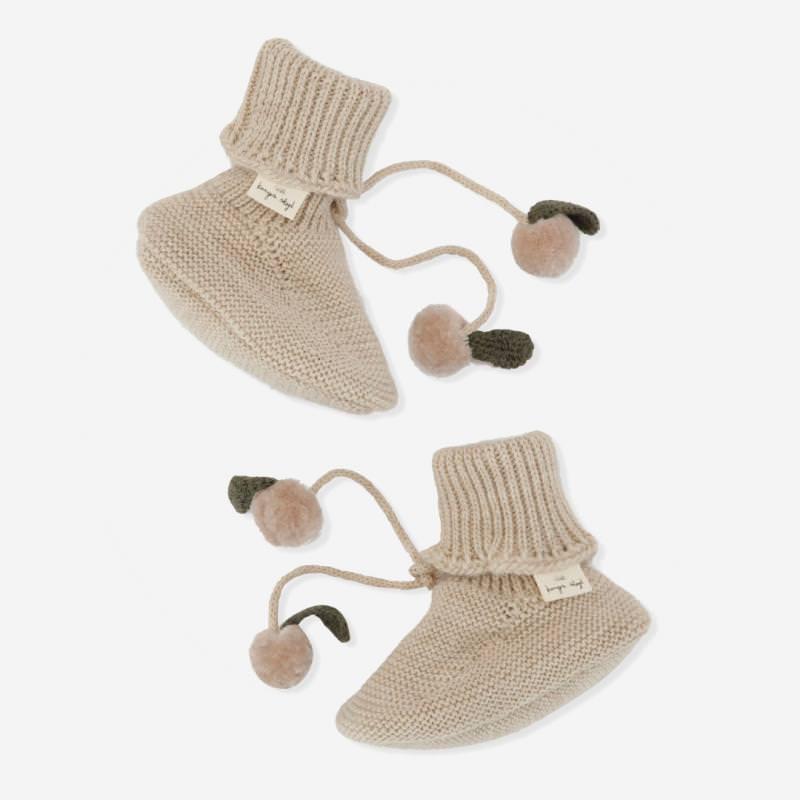Knit Boots MIRO white cream melange