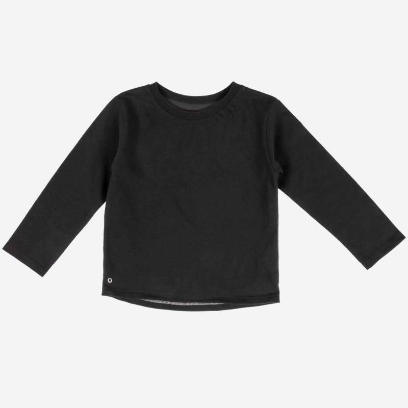 Long Sleeve Baumwolle cosmic black