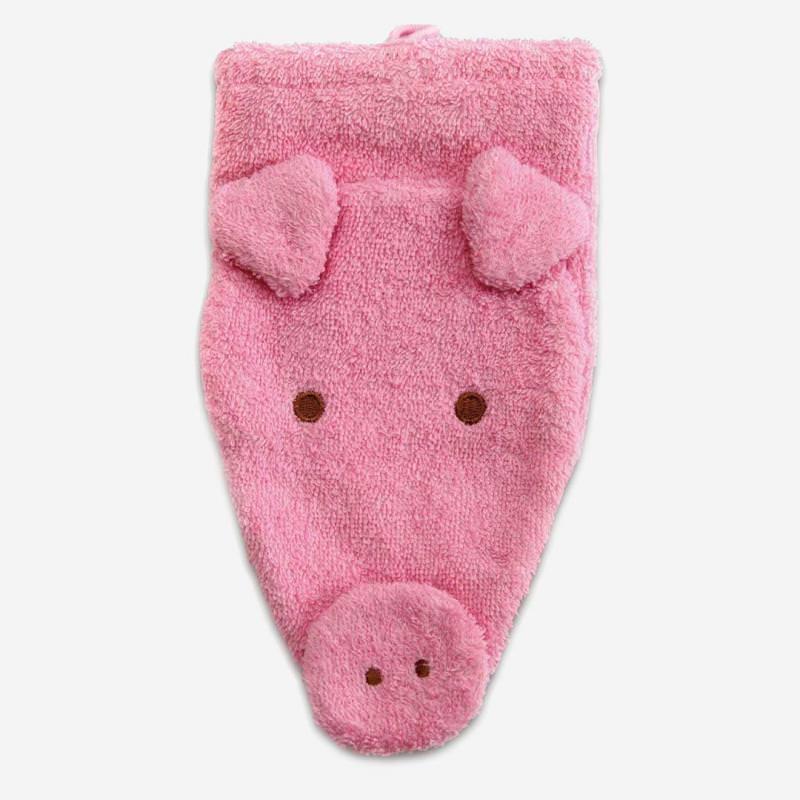 Waschhandschuh Schwein