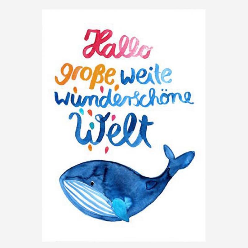 """Postkarte """"Hallo Welt"""""""