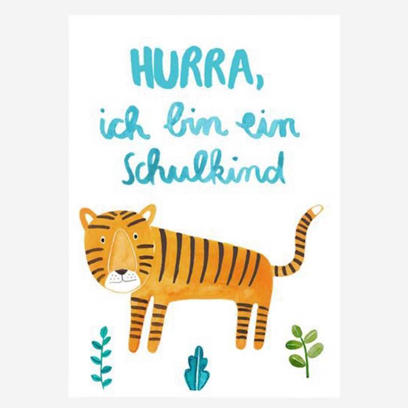 Postkarte *Schulkind* (Tiger)