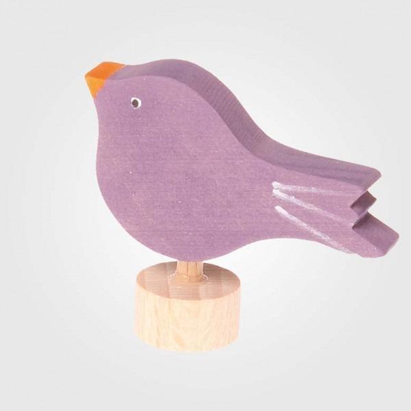 Figurenstecker Vogel sitzend