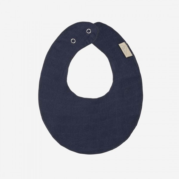 Musselin Teething Bib navy