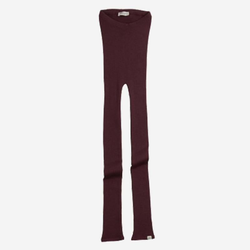 Leggings aus Wolle Arona raisin