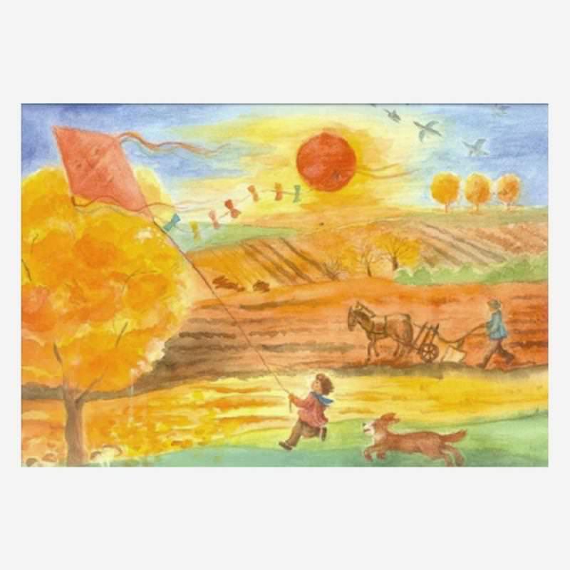Postkarte Herbst (Schmidt)