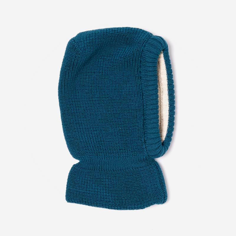 Schalmütze Wolle/Baumwolle petrol