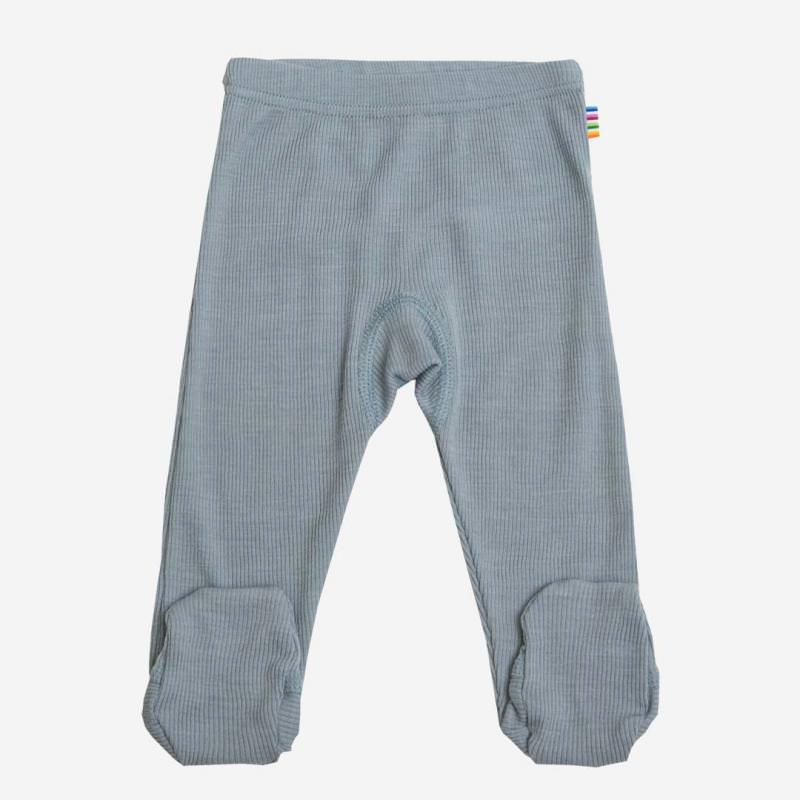Babyhose mit Fuß Wolle/Seide denimblau