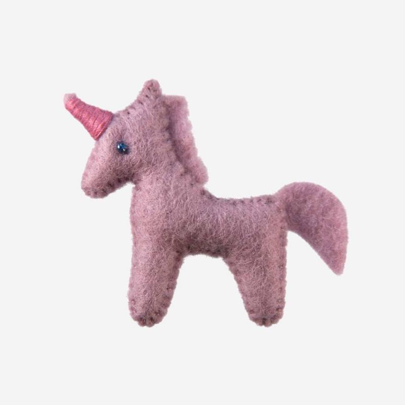 Kleine Filz Freunde Einhorn rosa