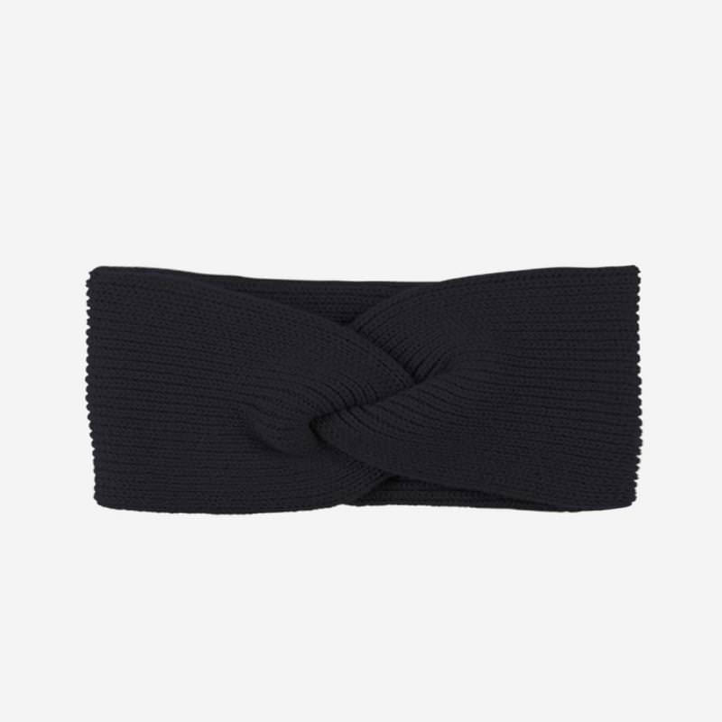 Stirnband Merino-Kaschmir schwarz