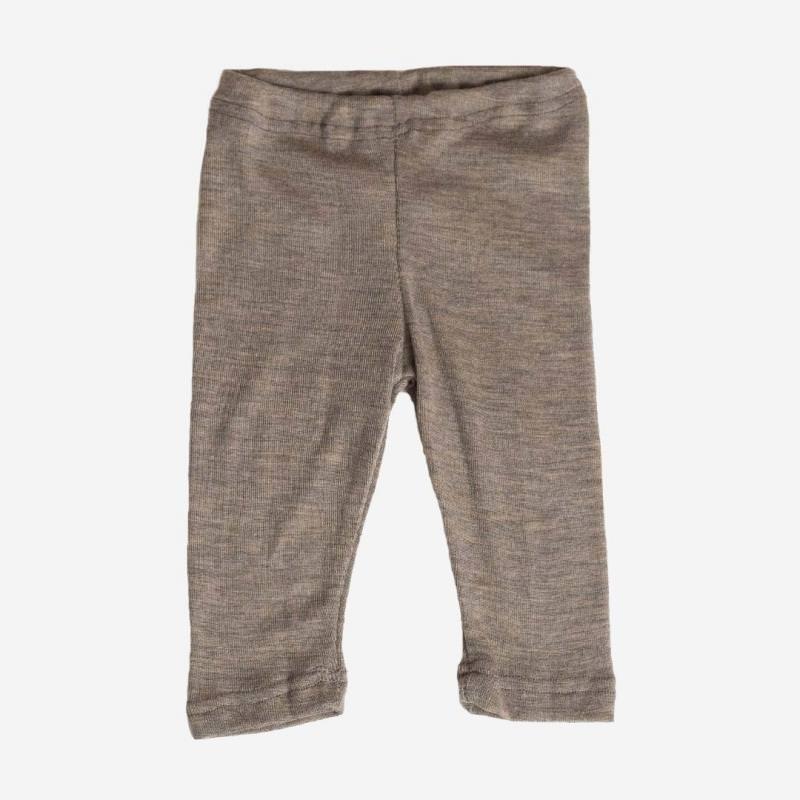 Baby-Leggings Wolle/Seide walnuß