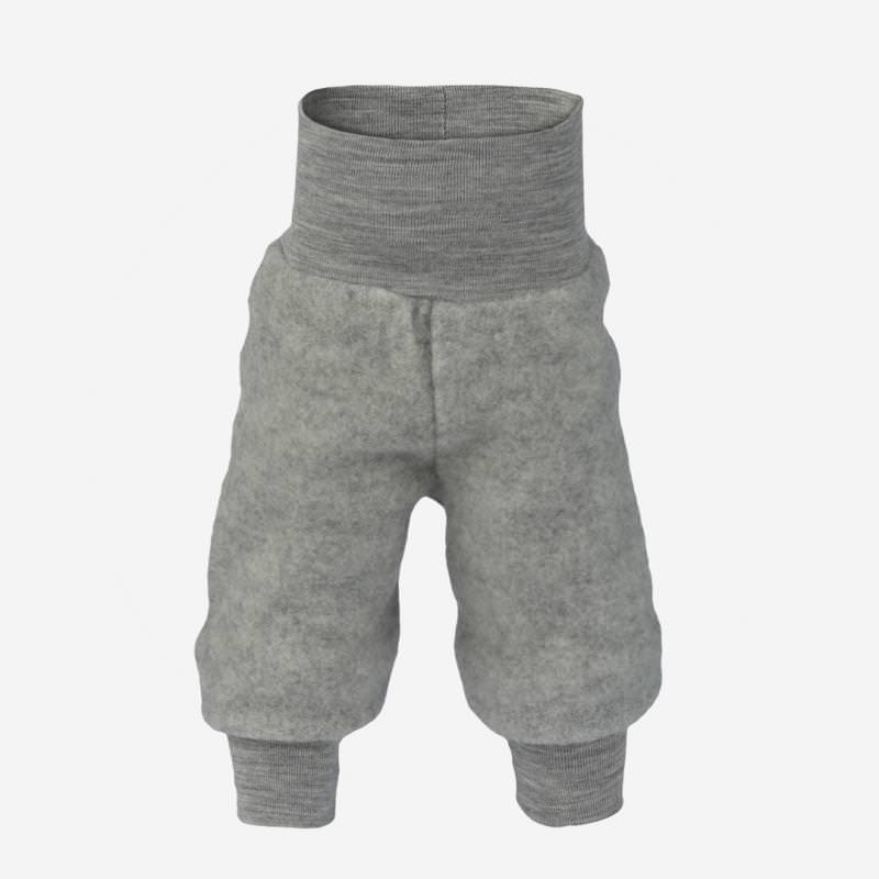Babyhose Nabelbund Wollfleece hellgrau