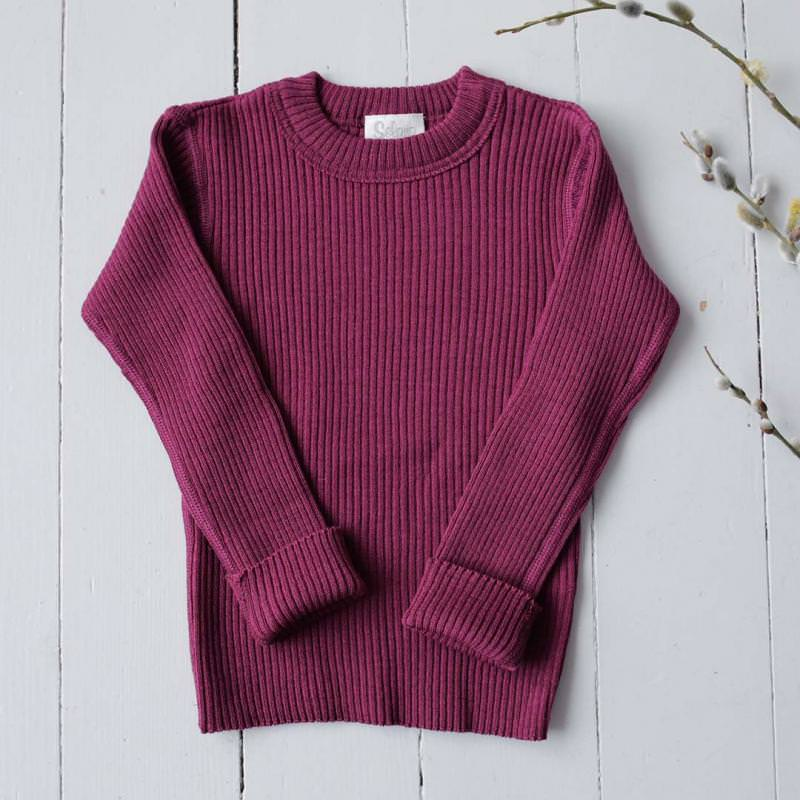 Pullover Wolle berry
