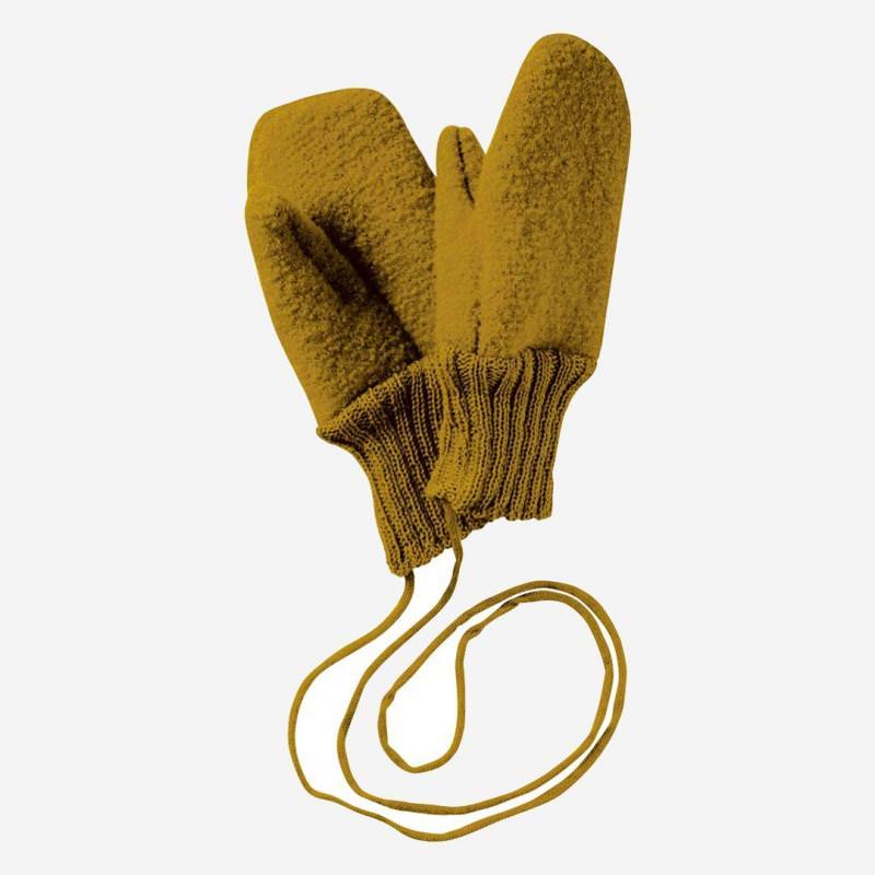Walkhandschuhe Wolle gold