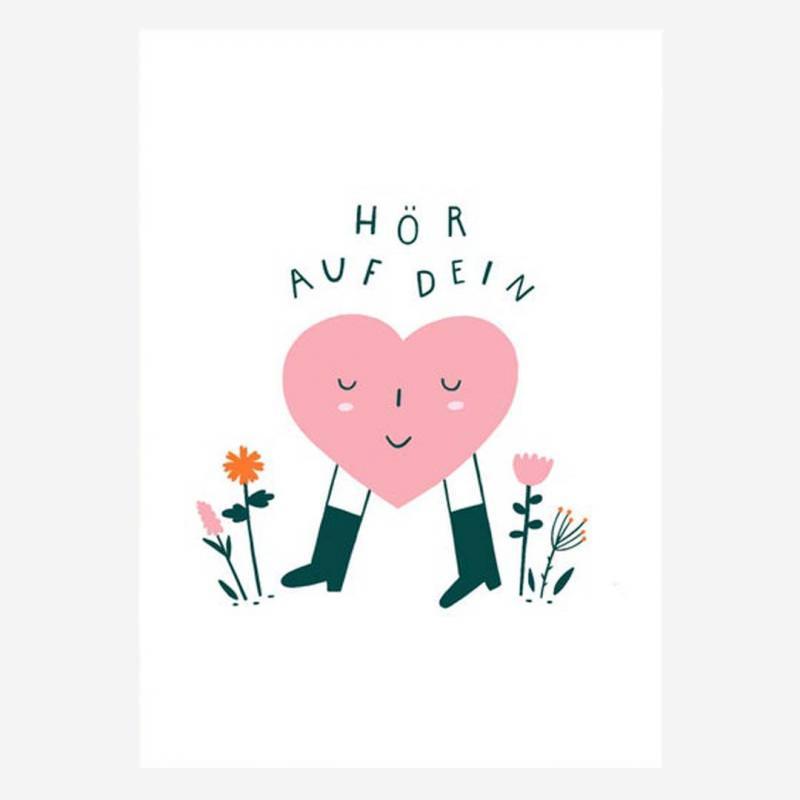 """Postkarte """"Hör auf dein Herz"""""""