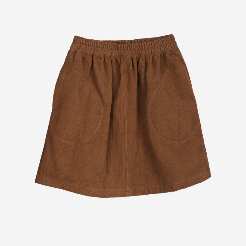 Pocket Skirt Cord walnut