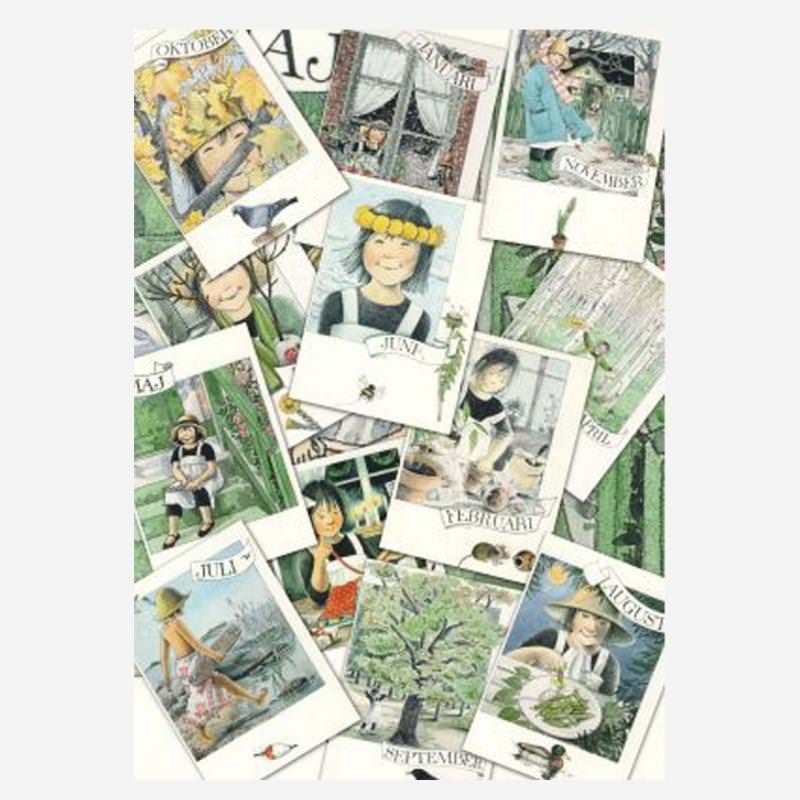 Monatskarten 12er Set Linnea von Lena Andersson