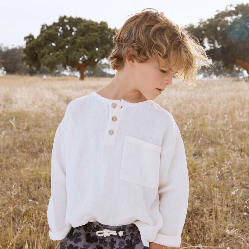 Hemd aus Leinen dandelion weiß