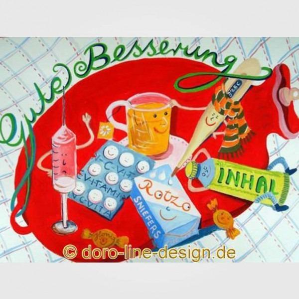 Postkarte Gute Besserung
