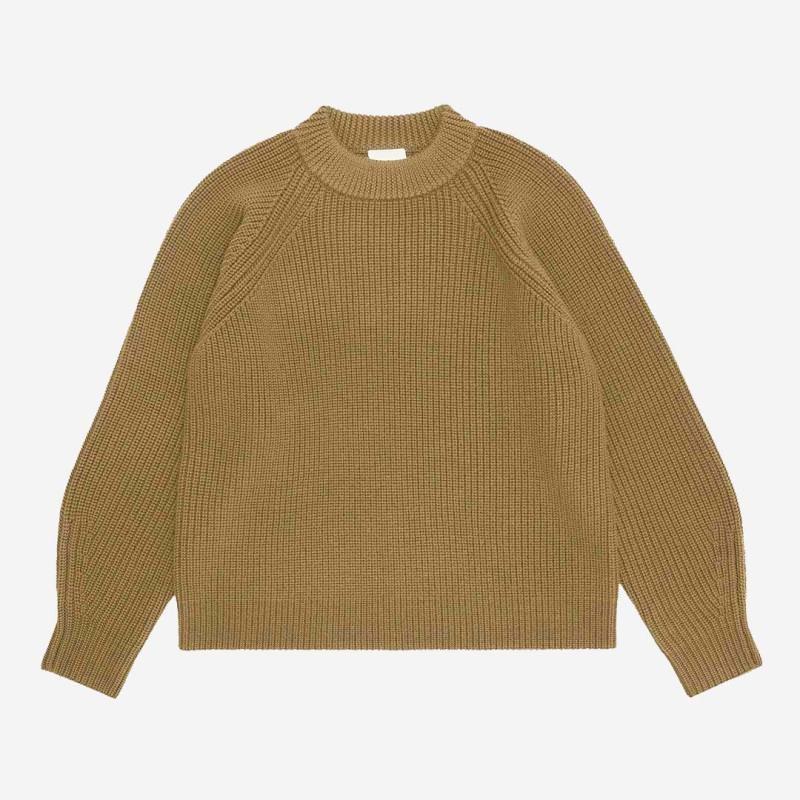 Damen Chunky Sweater von FUB aus Wolle in honey
