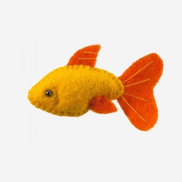 Kleine Filz Freunde Goldfisch