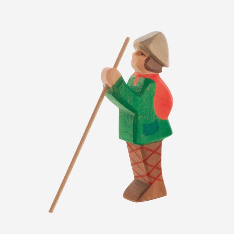 Holzfigur Hirte stehend von Ostheimer