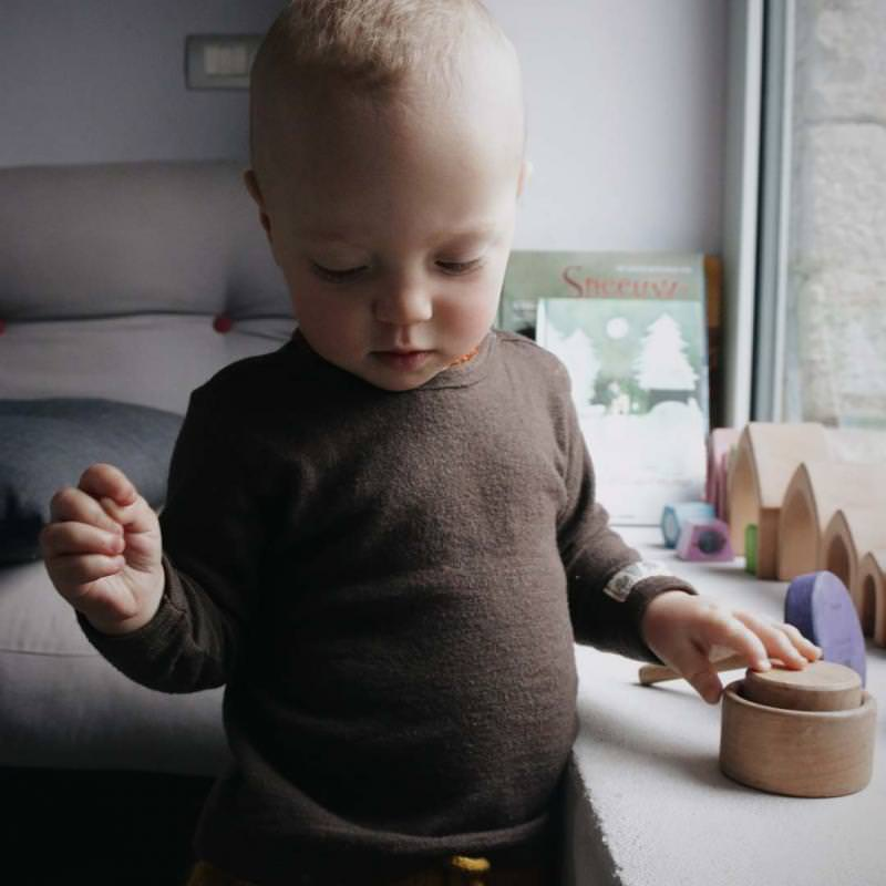 Baby Shirt Wolle/Seide