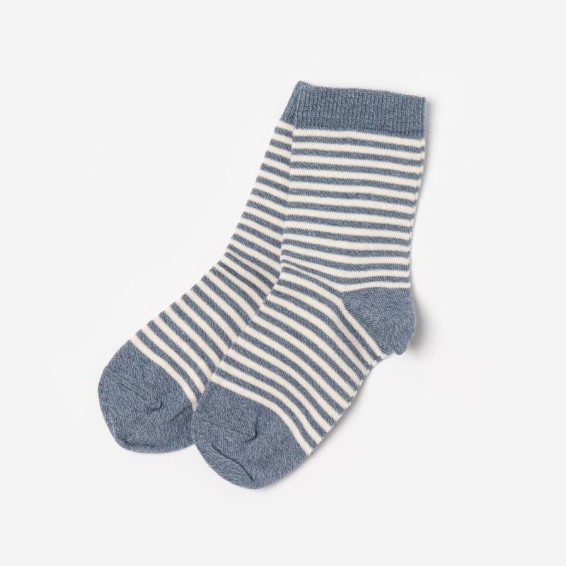 Socken Baumwolle Ringel jeansblau-natur