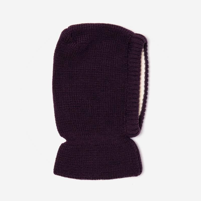 Schalmütze Wolle/Baumwolle lila
