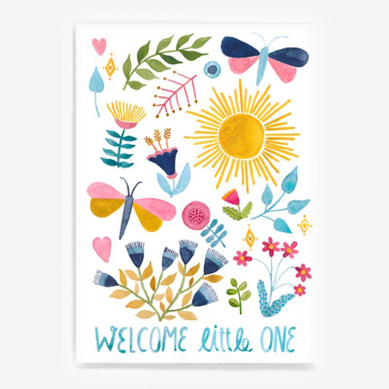 "Postkarte ""Welcome little one"""