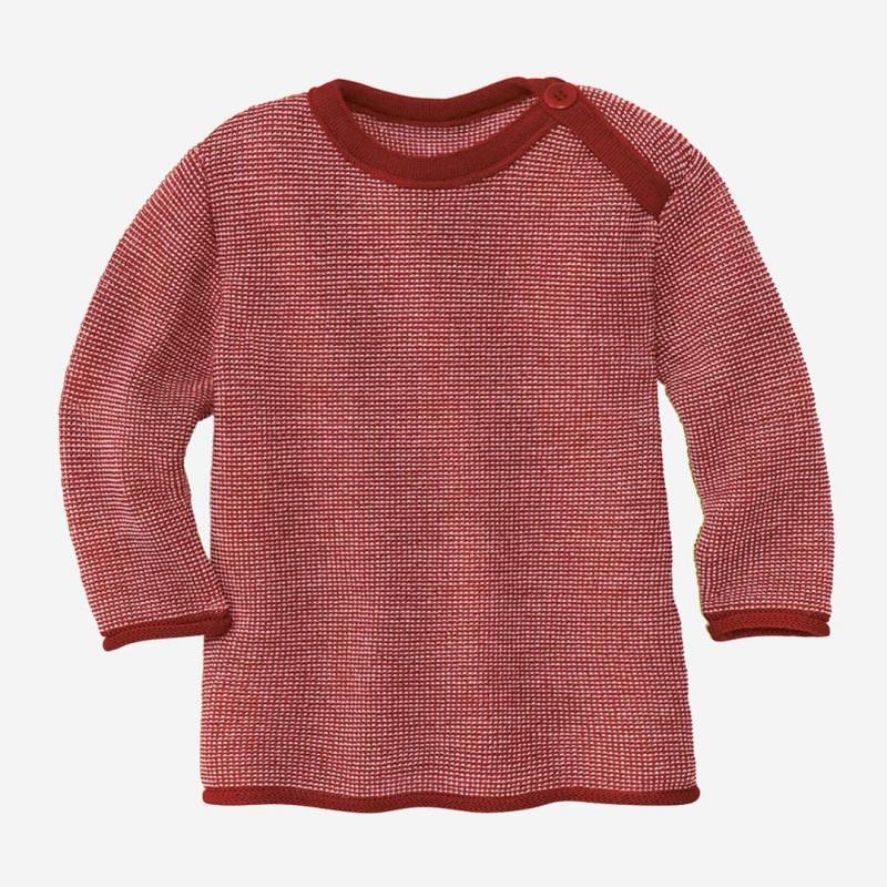Melange-Pullover Wolle bordeaux-rosé