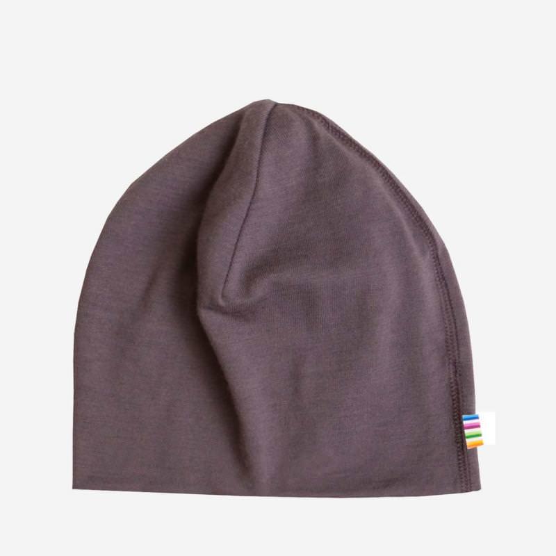 Mütze Merinowolle Veilchen