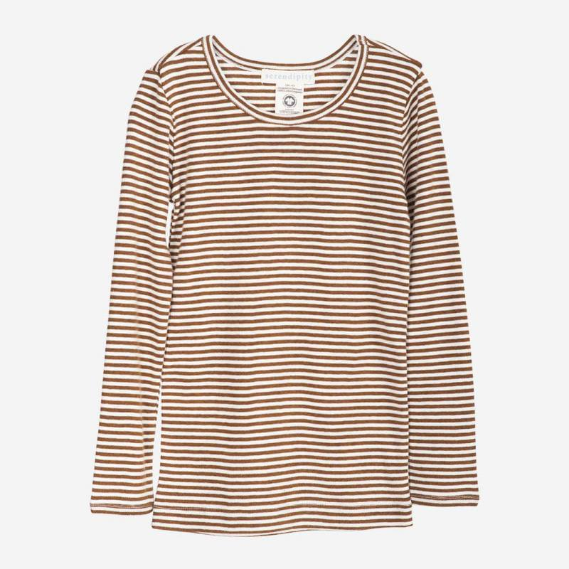 Slim Shirt caramel-stripe