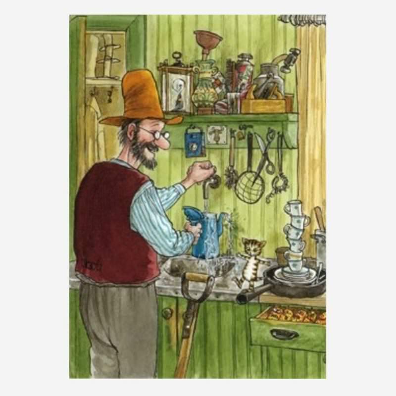 Postkarte Als Findus klein war