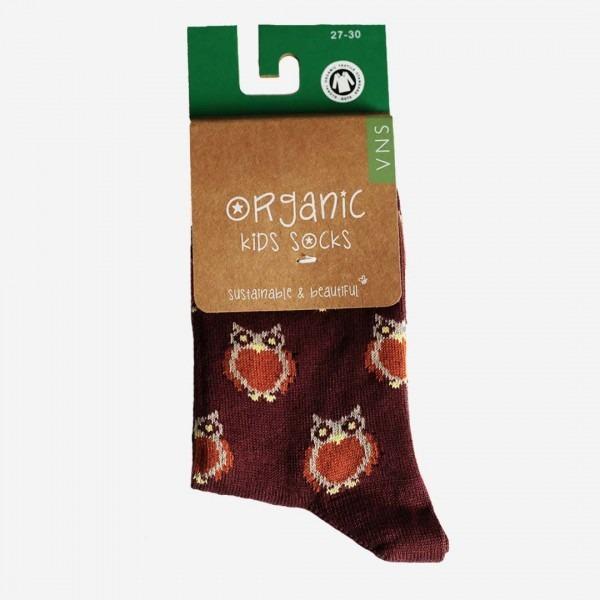 Socken Baumwolle Eule