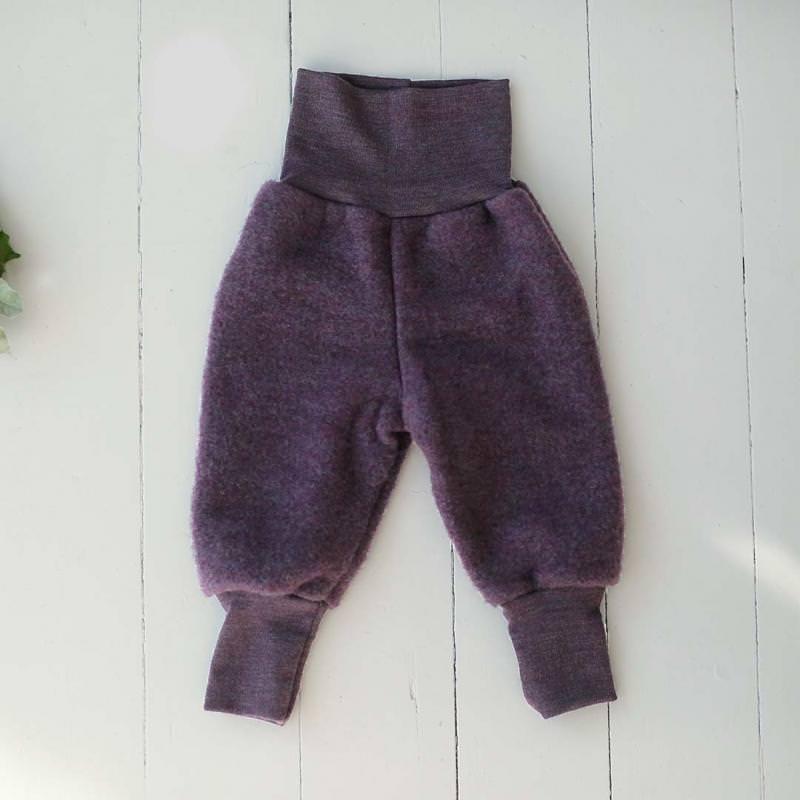 Babyhose Wollfleece lila