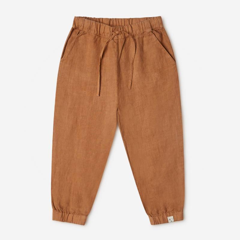 Kinder Hose Wilder Pants von Matona aus Leinen in hazel 1