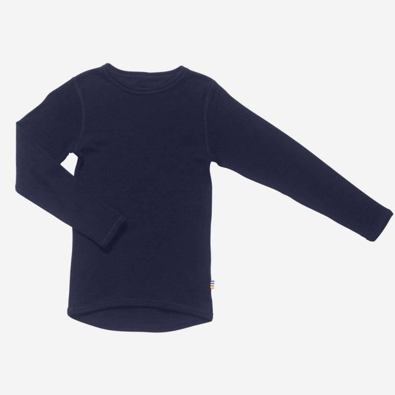 Shirt langarm Merinowolle navy