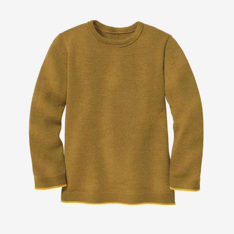 Strick-Pullover Wolle gold