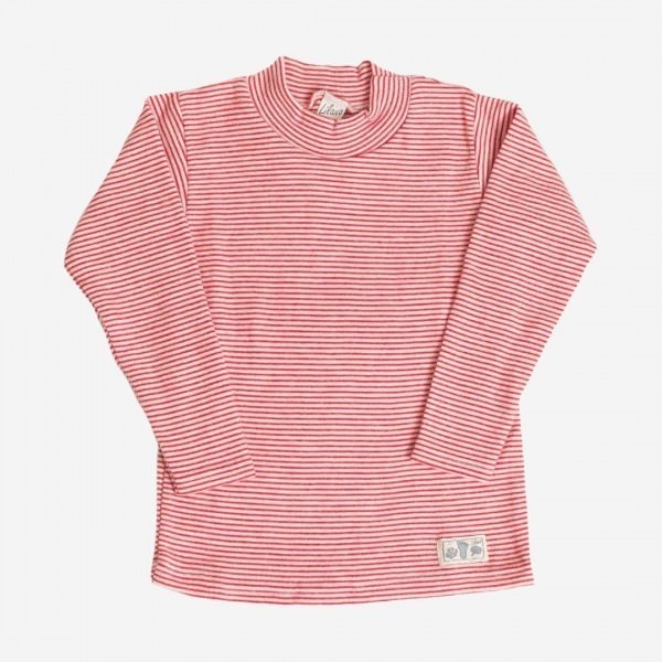Shirt Ringel Stehkragen Wolle/Seide